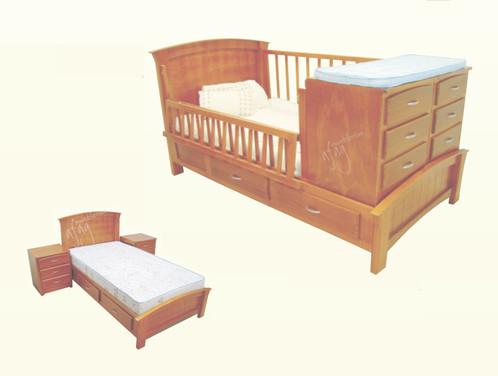 cama con cuna