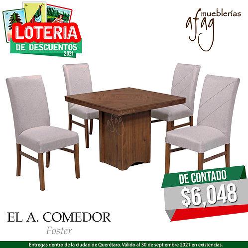 A. Comedor Foster 4 sillas