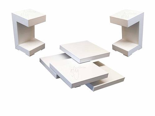 Mesas de Centro  Tabachín Blancas