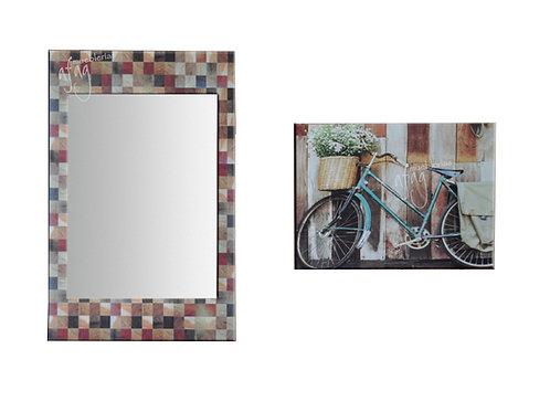 Espejo y Cuadro Decorativo