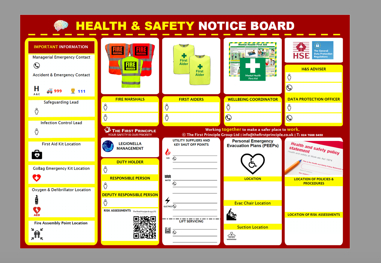H&S Notice Board for Care Homes