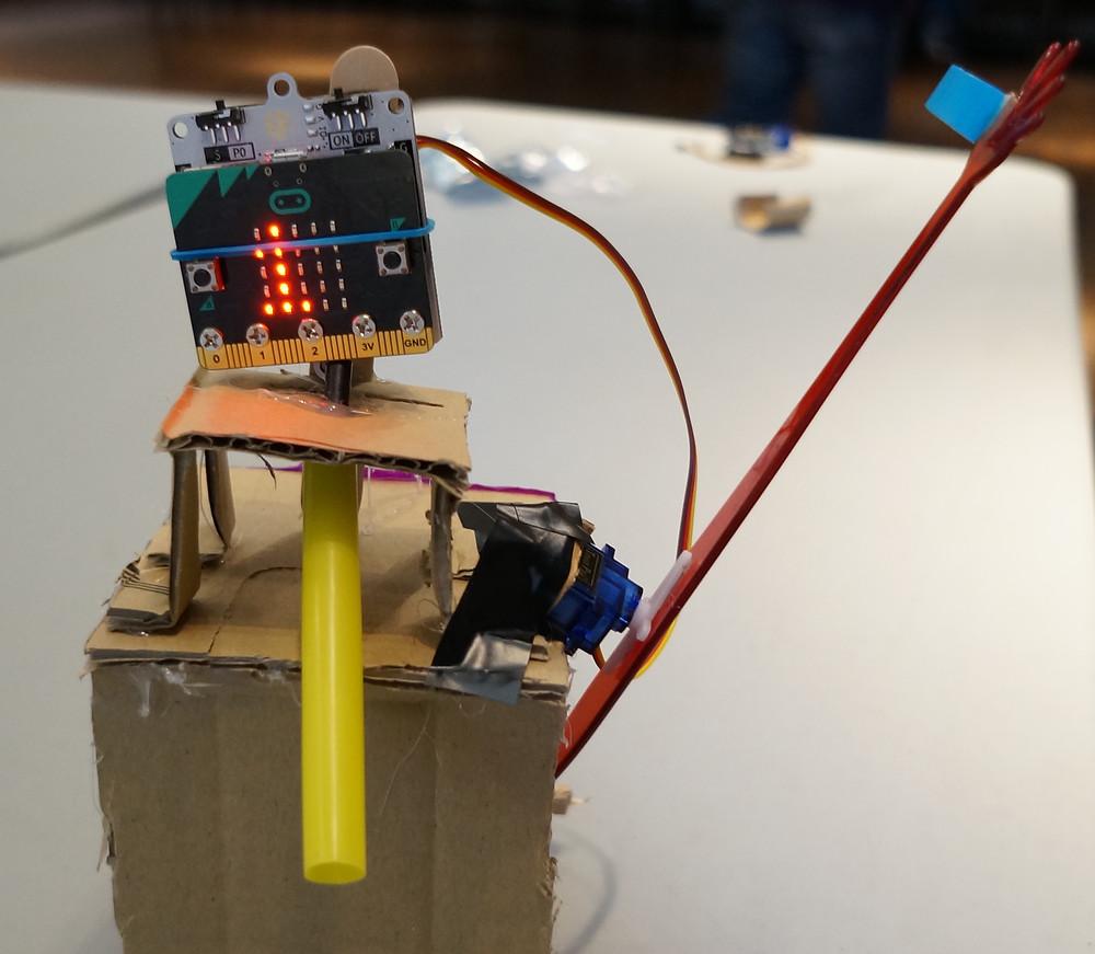 Micro:Bit, useless robot, technology, creativity, learning, school