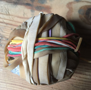 Stone in elastic bands