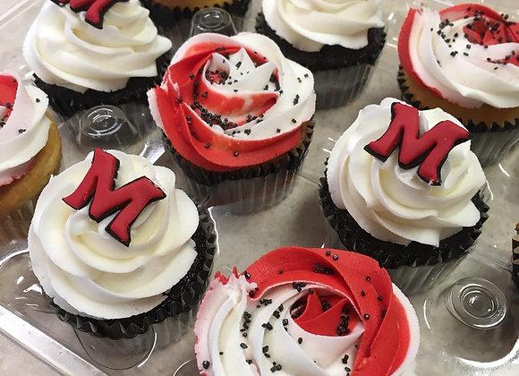 Custom Miami Redhawks Cupcakes