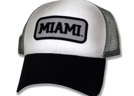 Miami Patch White and Grey Snapback