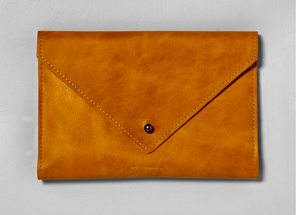 Leather monogrammed clutch by Magnolia