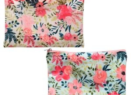 Floral Small Cosmetic Bag