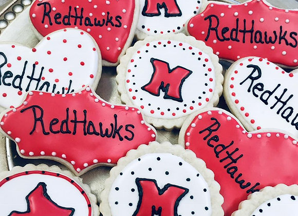 Custom Handmade Miami Redhawk Sugar Cookies with Icing