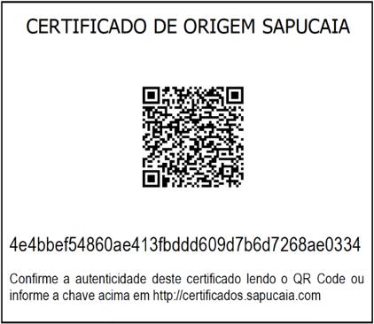 certificado de origem sapucaia