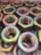 Porcas revestidas com zinco niquel ASTM B841