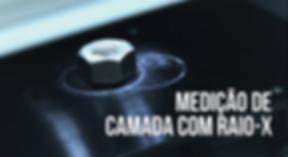 medição de camada por raio-x