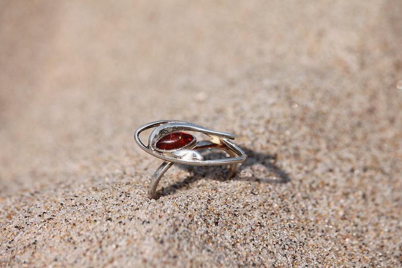 Amber Cateye Ring