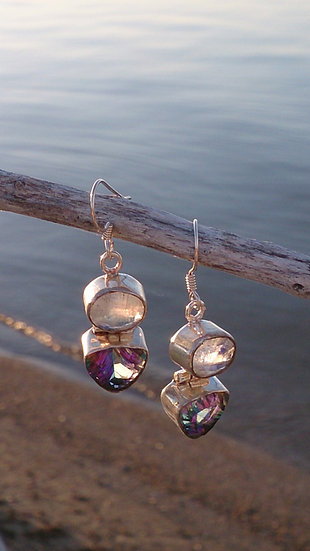 Mystique Topaz + Moonstone Earrings