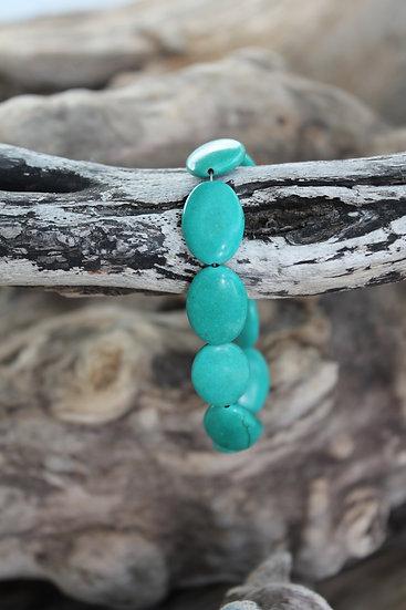 Polished Turquoise Bracelet