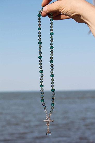 Sea Foam Crystal Necklace