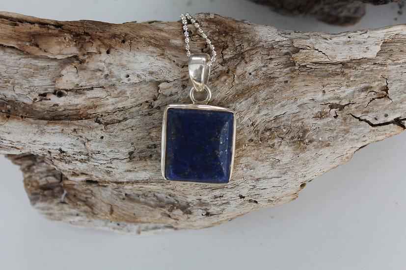 Blue Lapis Square Necklace