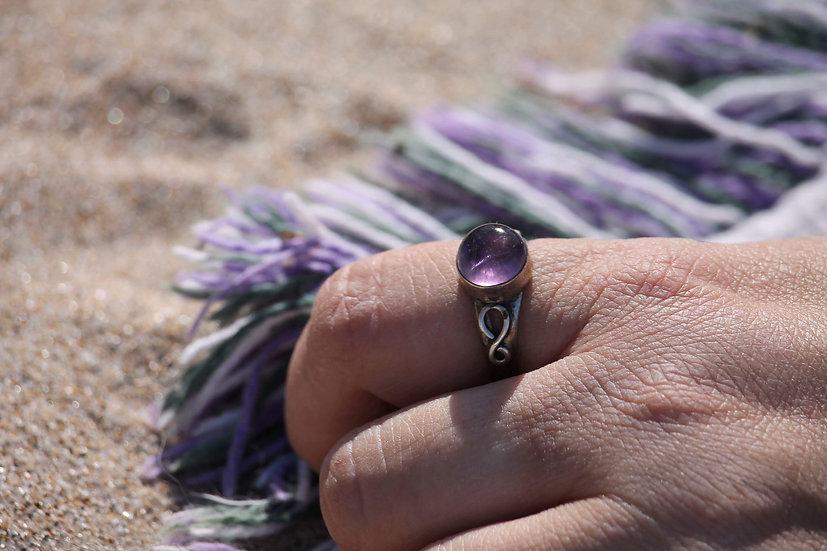 Amethyst Bubble Ring