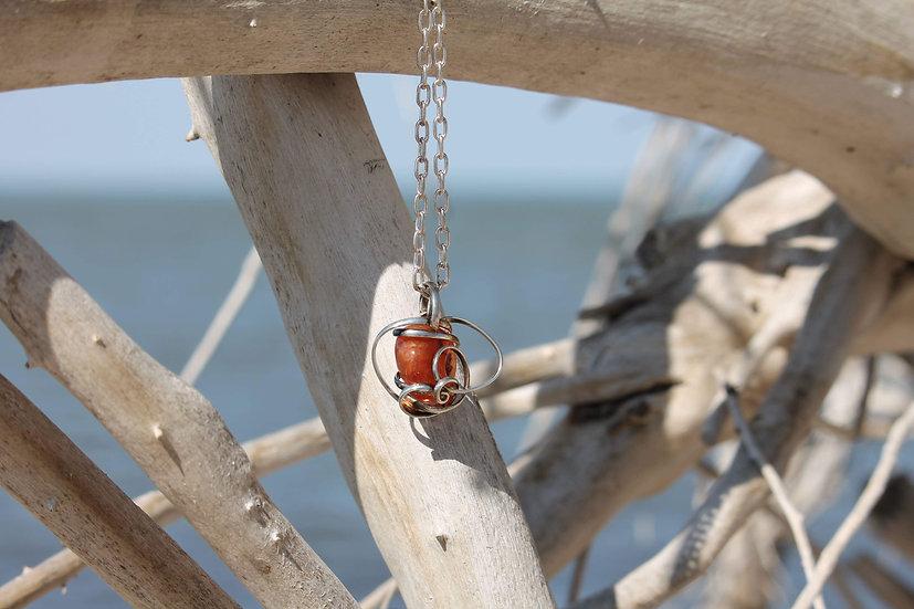 Carnelian Swirl Necklace