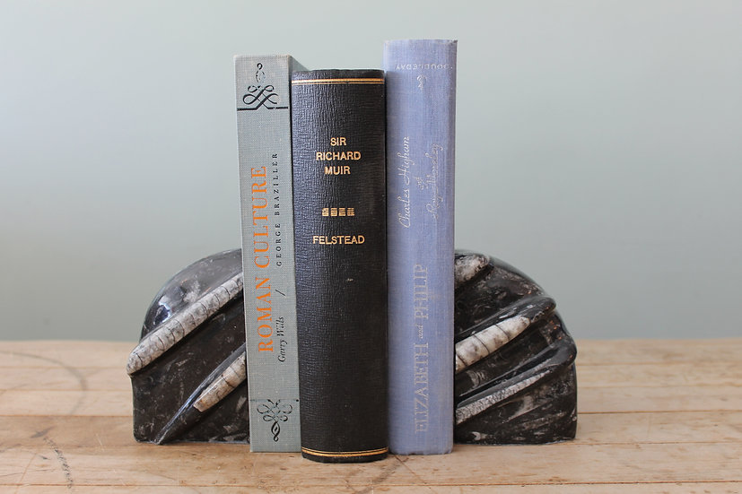 Black Marble Stone Bookends