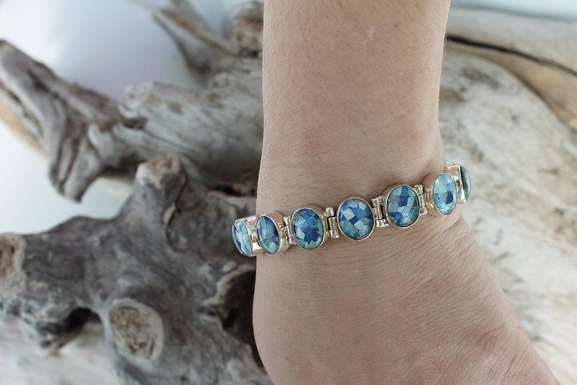 Opal Oval Glass Bracelet