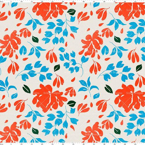SD035 Estampa Floral Abstrata