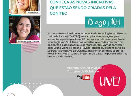 Inscreva-se: Live Participação Social - Conheça as novas iniciativas da Conitec