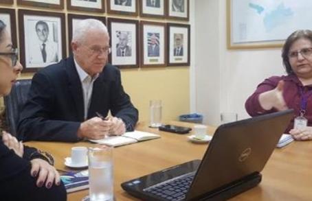 Reunião com a Secretaria de Saúde do Estado de SP