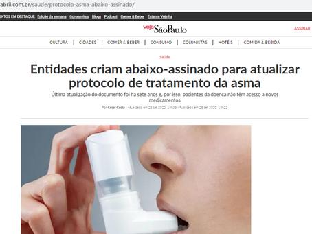 Leia a Matéria na Veja SP sobre campanha Atualiza Asma