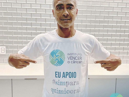 Romário apoia o Projeto Sim Para Quimio Oral