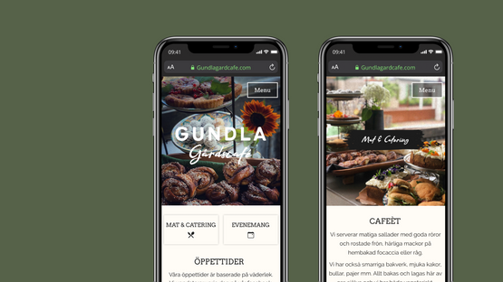 Gundlagårdscafé Branding & Website Design