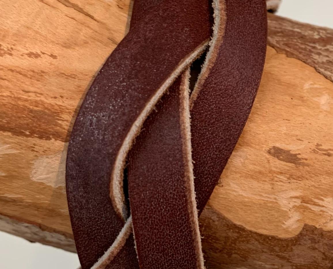 Bracelet tressé couleur marron