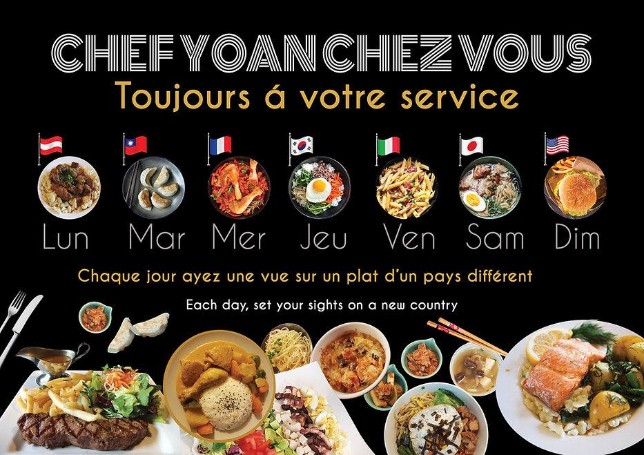 Une sélection des cuisines français, chinoise, coréen, japonaise, italien