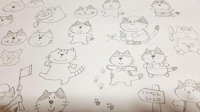 猫のイメージをいろいろ考えていたときのもの
