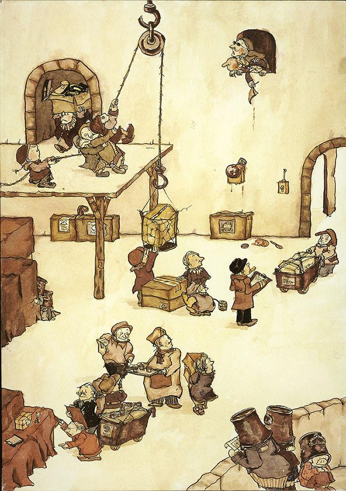 バケツ窃盗団をはじめて描いたイラスト