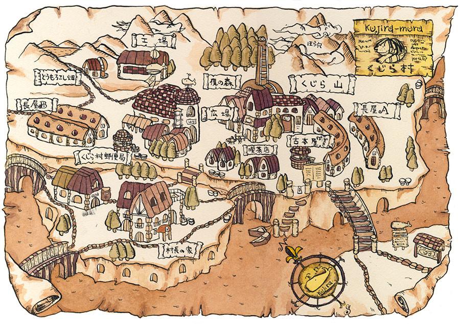 くじら村の地図