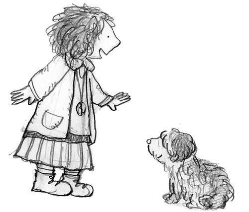 アニーと犬のサンディが出会うイメージ