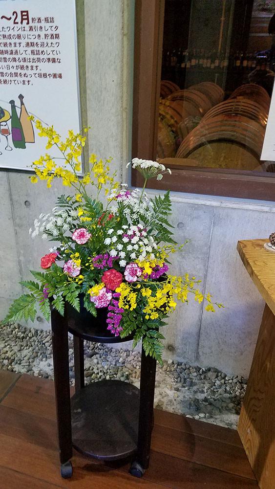飾っていただいたお花