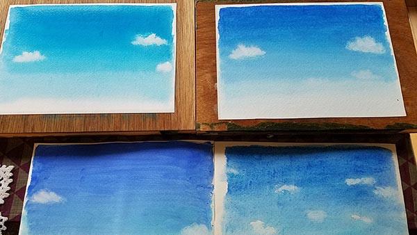 空の色の練習