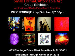 Exhibitor in Palm Beach Show - Paul Fisher Gallery.  Hosted by Contemporary Art Project USA.