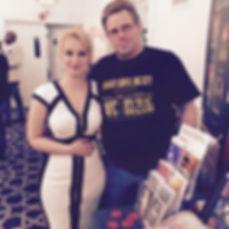Author Amanda Kimberley with author Alex Kimberley, her husband.