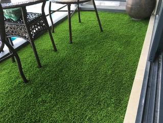 Premier Grass adds green to condo balcony in Gelugor