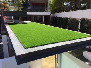Artificial Grass (Premier Grass) on Roof Top of Penang Bungalow