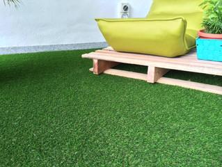 Infinity Luxury Condo Balcony with Artificial Grass (Premier Grass)