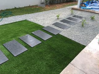 Artificial Grass (Premier Grass) on corner garden in Minden Heights