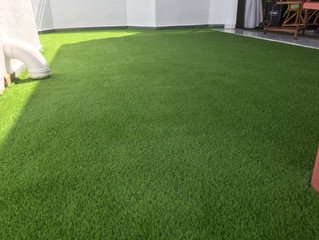 PREMIER GRASS installation at Penthouse in Georgetown Condo