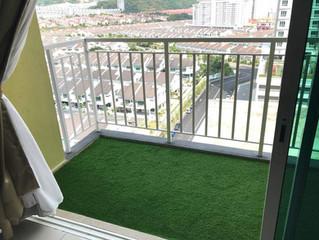 Setia Vista Condo Balcony with Uspine30