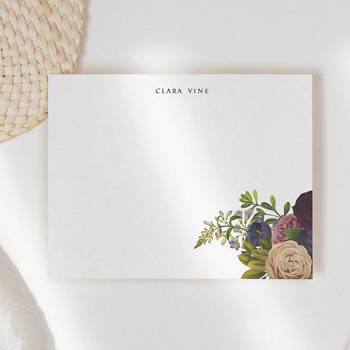 Aubergine Corner Flat Note Card Set