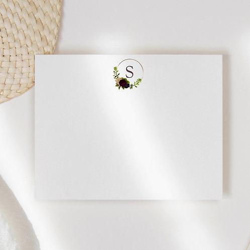 Aubergine Hoop Flat Note Card Set