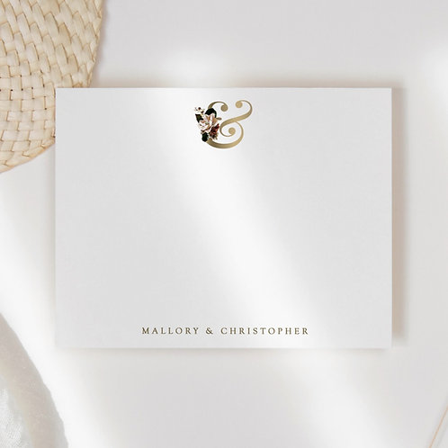 Ampersand Couple Flat Note Card Set