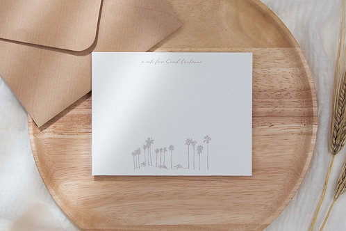 Vacation Mode Flat Note Card Set
